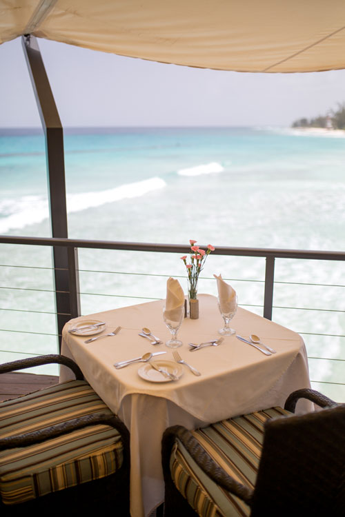 Waterside dining in Barbados at Champers Restaurant