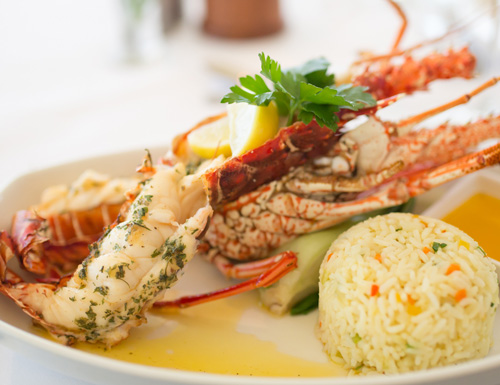 Lobster dinner on the menu at Champers